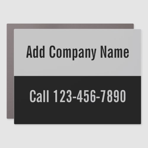 Custom Black and Gray Create Your Own Mobile Ad Car Magnet