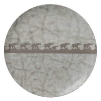 Custom Black and Gray Elephants Skin Plate
