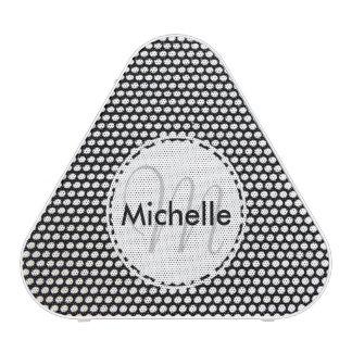 Custom Black and White Circle Pattern Bluetooth Speaker