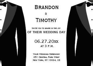 Black and white wedding invitations zazzle custom black and white gay wedding invitations filmwisefo Choice Image