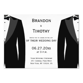 Gay Wedding Invitations Announcements Zazzle