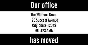 moving announcements business cards zazzle