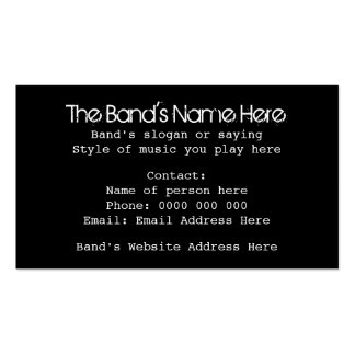 Custom Black and White Skull Design for Bands Double-Sided Standard Business Cards (Pack Of 100)