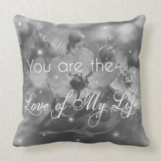Custom Black and White Throw Pillow