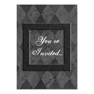 Custom Black Argyle Invitations