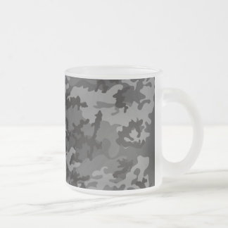 Custom Black Camo Frosted Coffee Mug