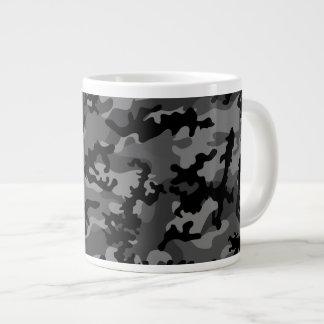 Custom Black Camo Glass Jumbo Mug