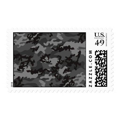 Custom Black Camo Postage Stamps