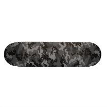 Custom Black Camo Skateboard