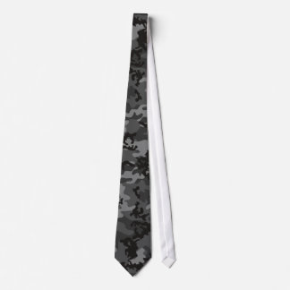 Custom Black Camo Tie