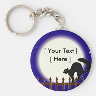 Custom Black Cat Keychain