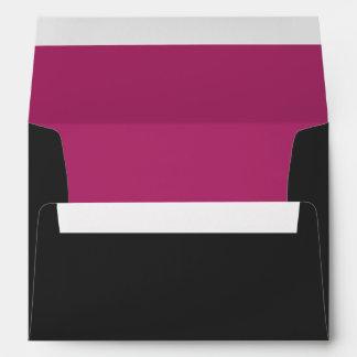 Custom Black & Fuchsia Envelope w/ Return Address Envelopes
