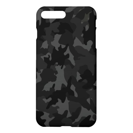 pretty nice cbe8b ed883 Custom Black Gray Camouflage Camo Pattern Matte iPhone Case