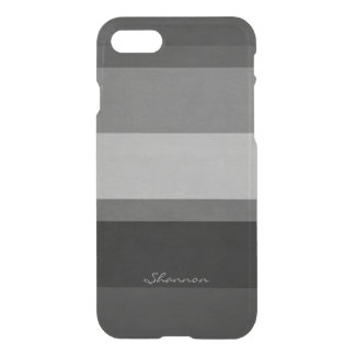 Custom Black & Gray Clear Striped iPhone 7 case