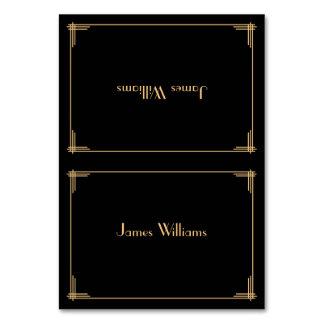 Custom Black Great Gatsby Art Deco Place Cards