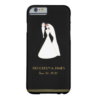 Custom Black Great Gatsby Wedding iPhone 6 Cases Barely There iPhone 6 Case