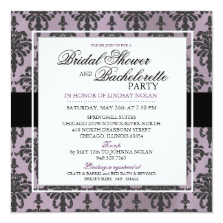 CUSTOM Black Lace Bachelorette/Bridal Shower V2 Card