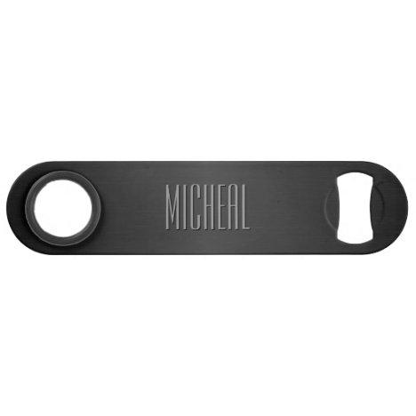 Custom Black Metallic Speed Bottle Opener