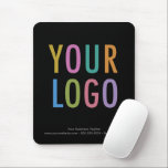 """Custom Black Mouse Pad Business Logo Promotional<br><div class=""""desc"""">Personalize this mouse pad with your business logo and custom text. It has a cloth surface with a non-slip rubber base. This is a black mouse pad that you can customize to a different color. It's 9.25 inch x 7.75 inch* with a rounded rectangle shape. No minimum order quantity and...</div>"""