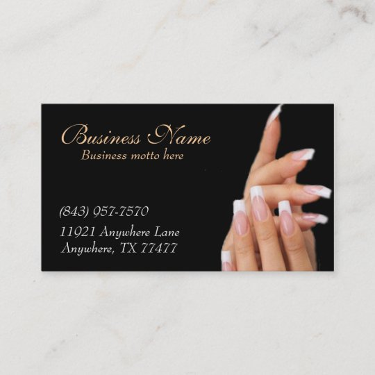 Custom black nail salon business cards zazzle custom black nail salon business cards colourmoves