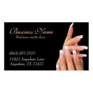 Whats so small about my business complaints are not always a bad thing custom black nail salon business cards reheart Choice Image