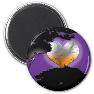 Custom Black New Moon 2 Inch Round Magnet