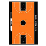 Custom black orange basketball dry erase board