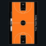 """Custom black orange basketball dry erase board<br><div class=""""desc"""">Also available in these colors:</div>"""