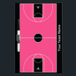 "Custom black pink basketball dry erase board<br><div class=""desc"">Also available in these colors:</div>"