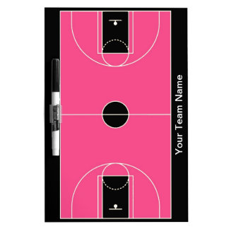 Custom black pink basketball dry erase board