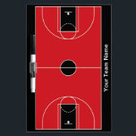 """Custom black red basketball dry erase board<br><div class=""""desc"""">Also available in these colors:</div>"""