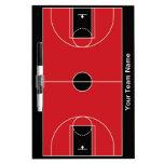 Custom black red basketball dry erase board
