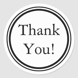 Custom Black Thank You Stickers and Favor Labels