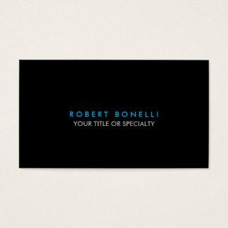 Custom Black White Blue Standard Business Card