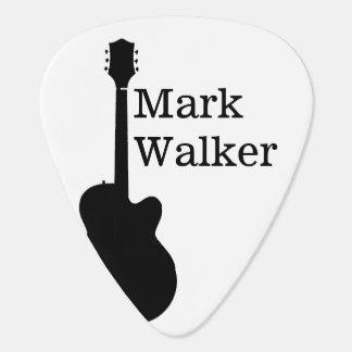 custom black&white guitar picks for the guitarist