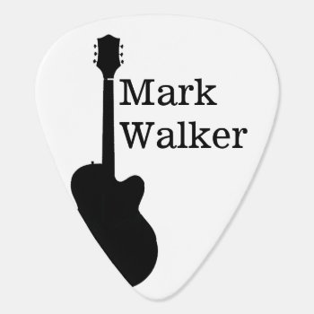 Custom Black&white Guitar Picks For The Guitarist by mixedworld at Zazzle