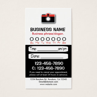 Custom black white photo appointment cards