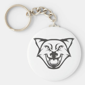 Custom Black Wolf Sports Logo Keychains