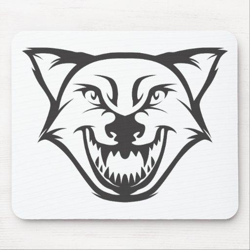 Custom Black Wolf Sports Logo Mousepads