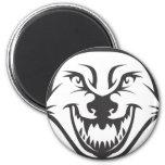 Custom Black Wolf Sports Logo Refrigerator Magnets