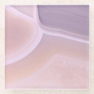 Custom Blank Dreamy Purple Agate Geode Patterns Glass Coaster