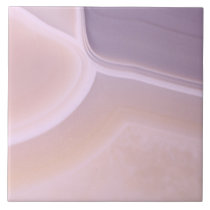 Custom Blank Purple Pink Agate Crystal Patterns Ceramic Tile