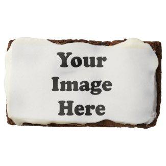 "Custom Blank Template Dozen 3.5"" x 2"" Brownies Brownie"