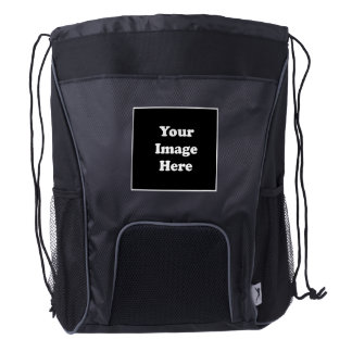 Custom Blank template Drawstring Backpack