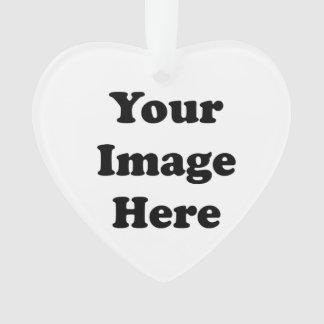 Custom Blank Template Heart Acrylic Tree Ornament