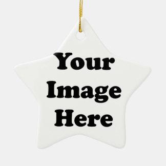 Custom Blank Template Star Ceramic Tree Ornament