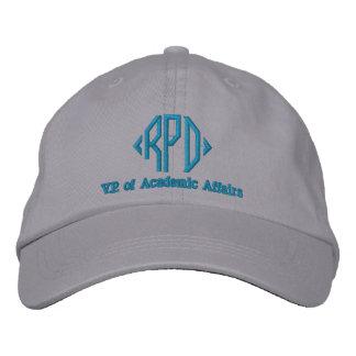 Custom Block Monogram Job Title Embroidered Baseball Hat