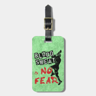 Custom Blood Sweat & No Fear Lacrosse Luggage Tag