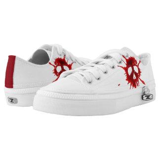 Custom Bloody Skeleton Shoes, Men / Women Low-Top Sneakers