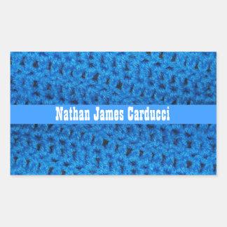 Custom Blue Afghan Book Belongs To Sticker